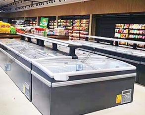 超市卧式冷冻冷藏岛柜